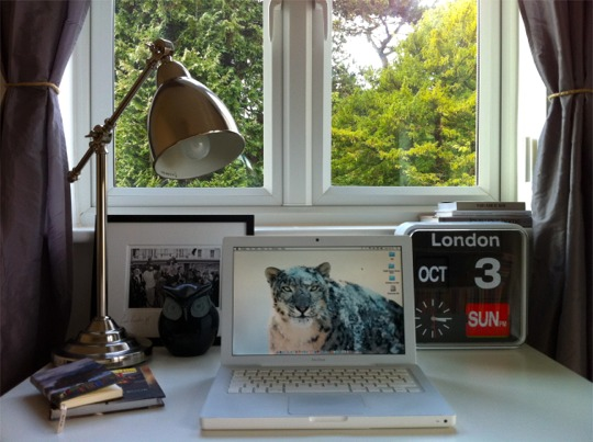 Desk in the home office of Will Taylor from interior blog Bright Bazaar
