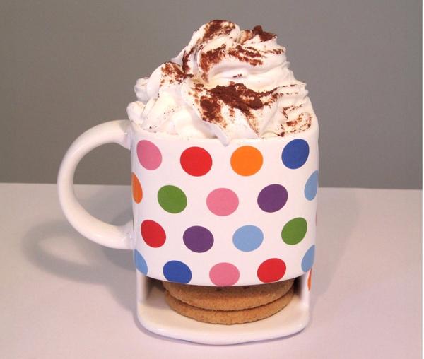 Polka Dot Dunk Mug - Mocha