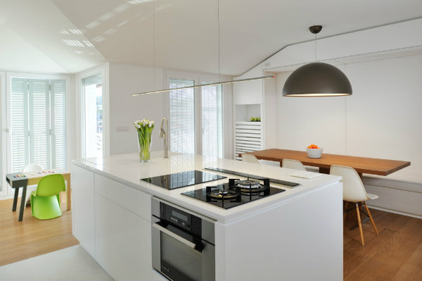 Minimalist kitchen dining area