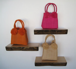 Bags on Bark Shelves - Mocha