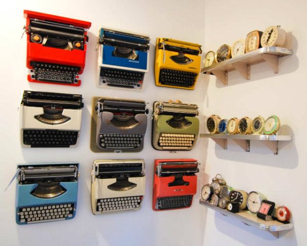 Typewriter collection display