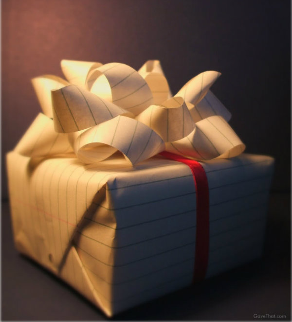 Ruled Gift Wrap