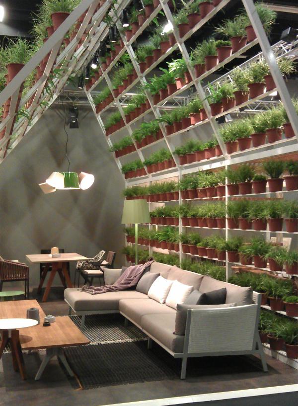 Plant wall divider from Mocha UK blog
