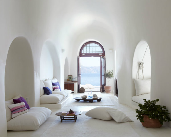 Living Room Mediterranean Style on Mocha