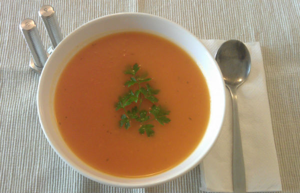 Orange Vegetable Soup Recipe - Healthy Lunch Ideas from Mocha