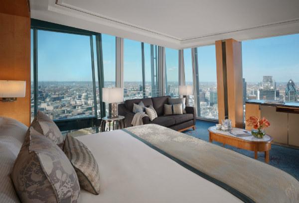 Shangri-La Hotel At The Shard London Guest Bedroom - Mocha