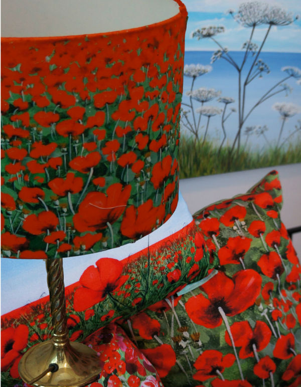 Lampshade Blowing Poppies from Mocha