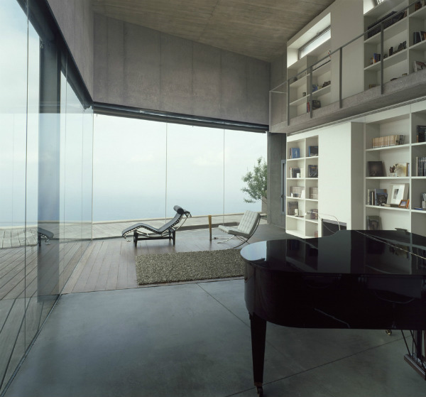 Modern interior with piano