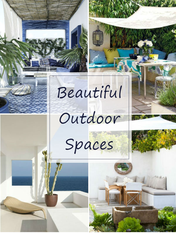 Outdoor living rooms beautiful outdoor spaces mocha for Beautiful garden rooms