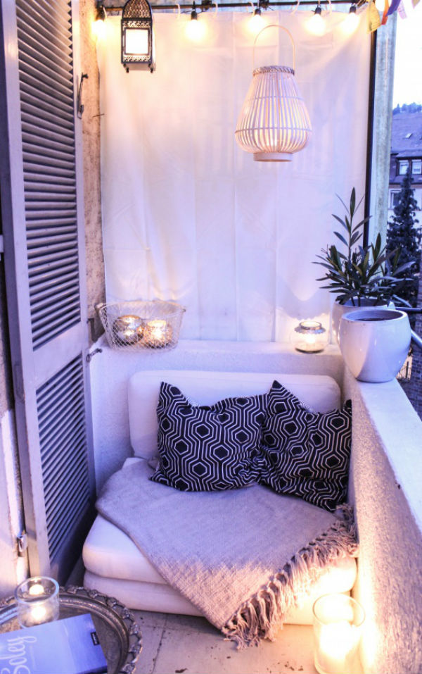 small terrace living room