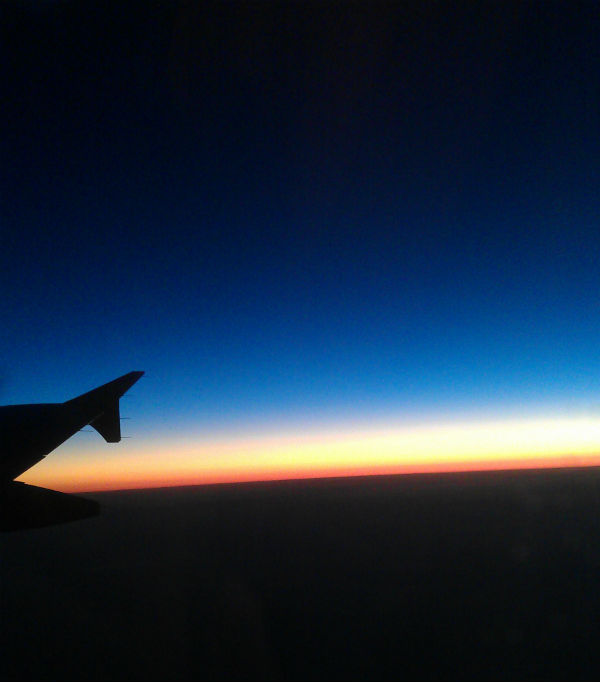 Sunset from a plane - inspired by nature