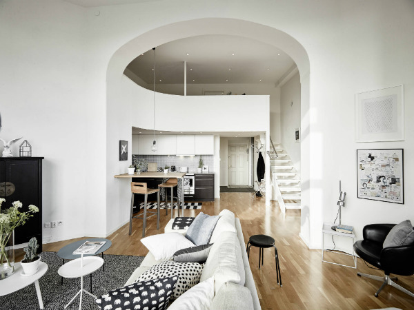 Airy duplex apartment in Gothenburg