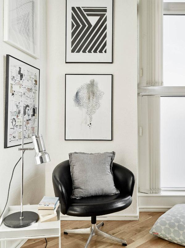 Reading nook in Scandianvian design lounge
