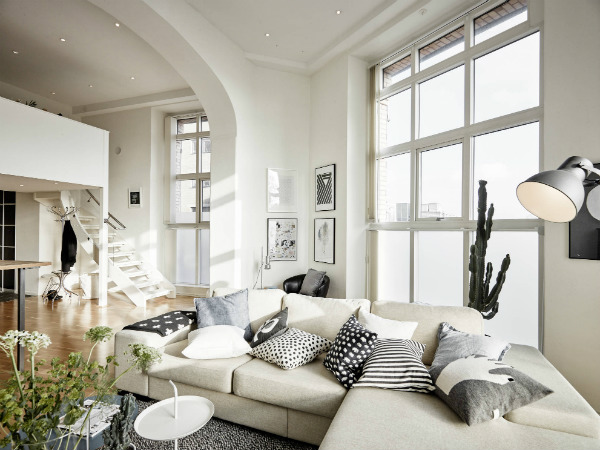 Stylish Gothenburg apartment with mezzanine