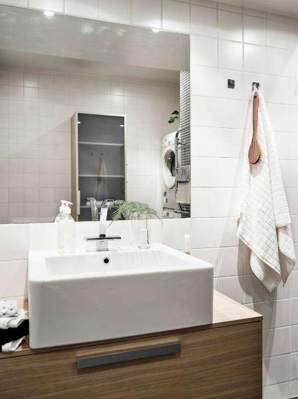 Stylish bathroom storage for a small bathroom