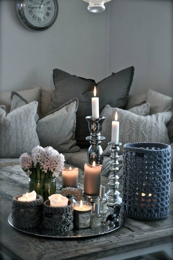 Lighting your home with candles