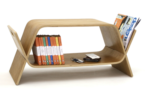 Embrace coffee table magazine rack and book shelf