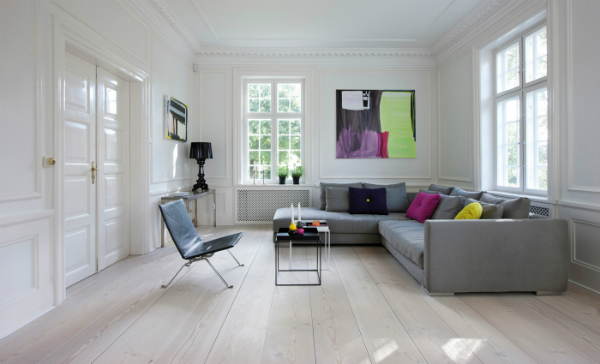 Scandinavian homes wooden floors