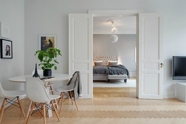Simple and clutter free Scandinavian interiors