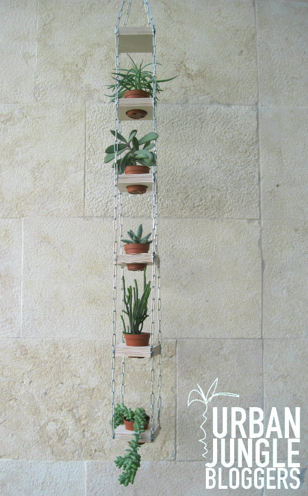 Vertical hanging planters for succulents - Urban Jungle Bloggers - Mocha