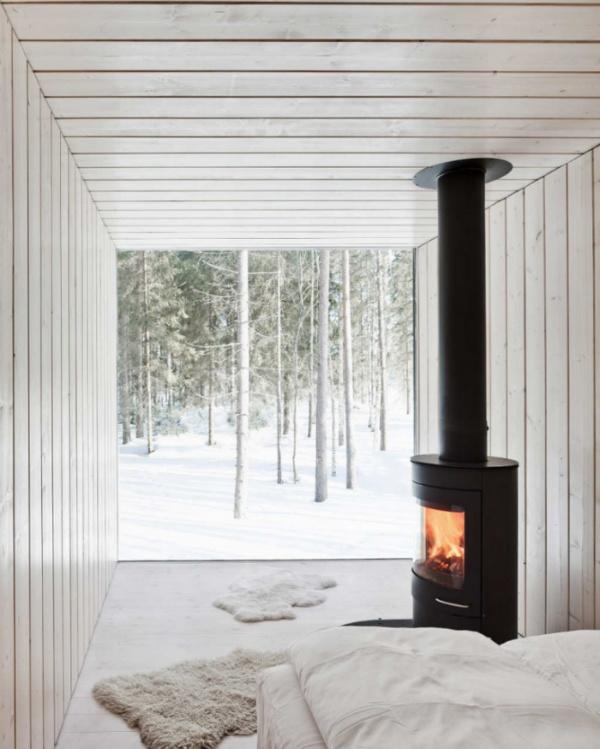 Scandinavian design cabin - Biophilic Design - Prospect and Refuge