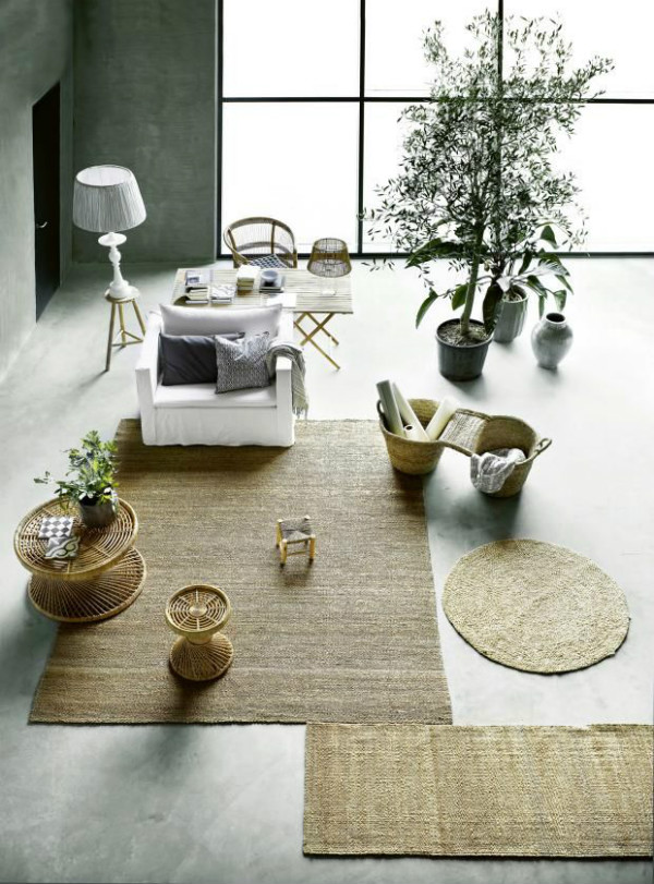 Scandinavian interior with plants