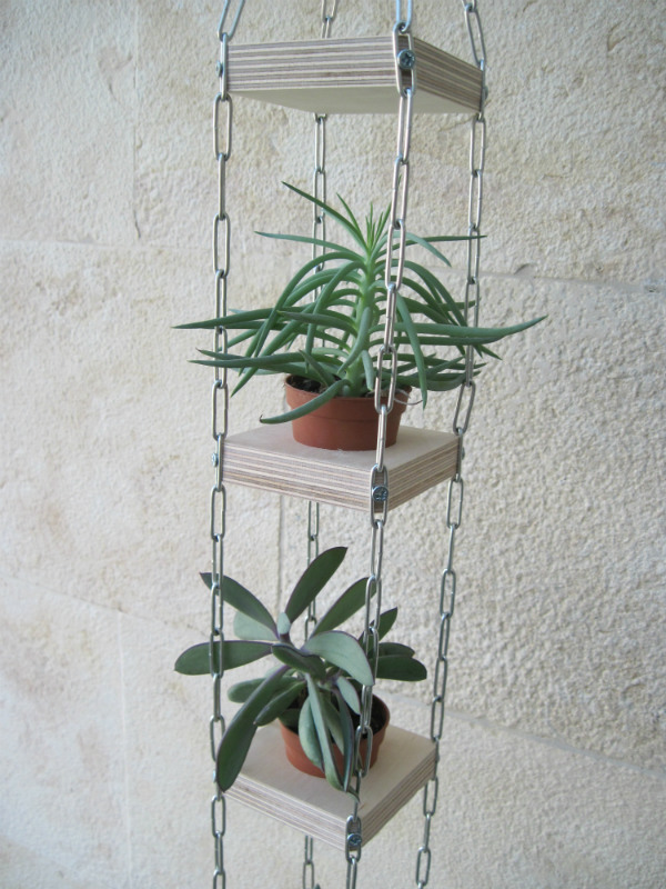 Succulent vertical hanging planter - Mocha