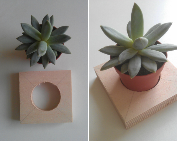 Tutorial - hanging planter for succulents - Mocha