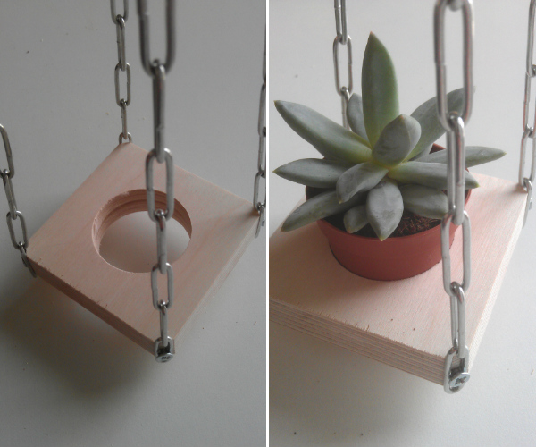 Tutorial - how to make a hanging planter for succulents - Mocha