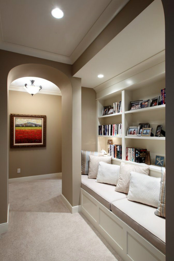 Hallway reading nook