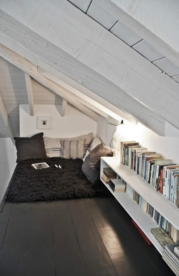 Loft reading nook