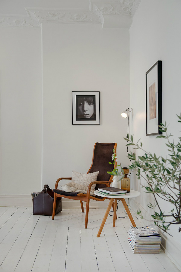Reading corner with plants