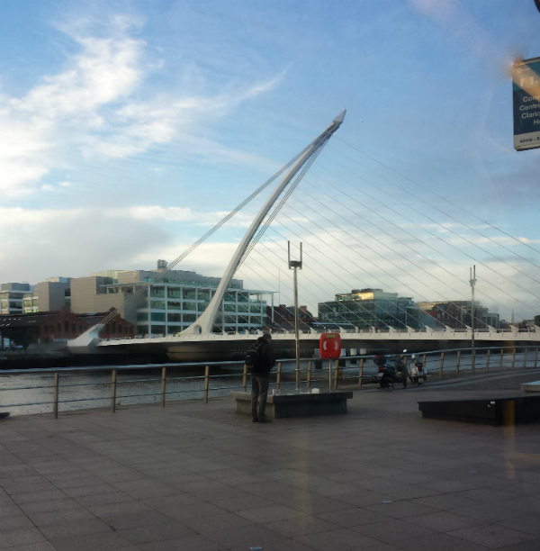 James Joyce Bridge by Santiago Calatrava in Dublin