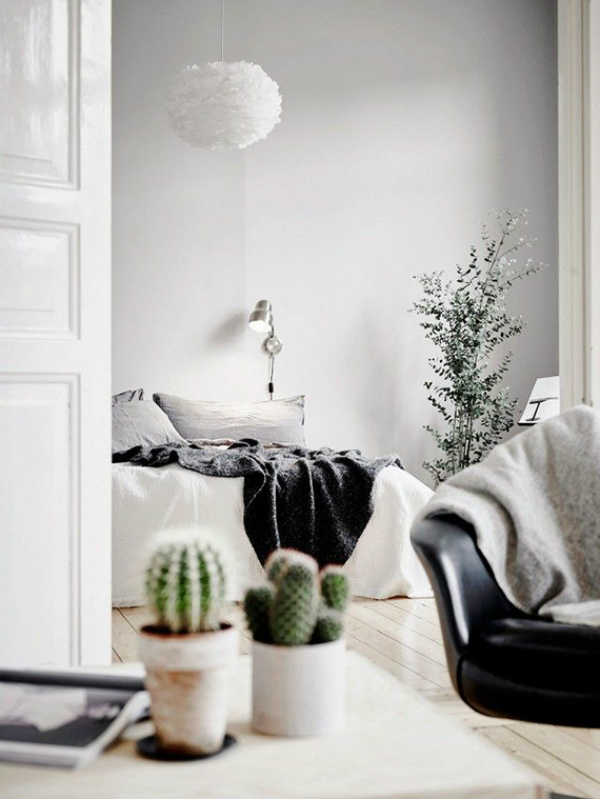 Minimalist Scandinavian bedroom
