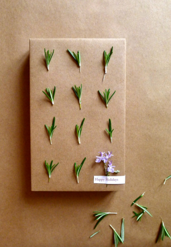 Rosemary gift wrap
