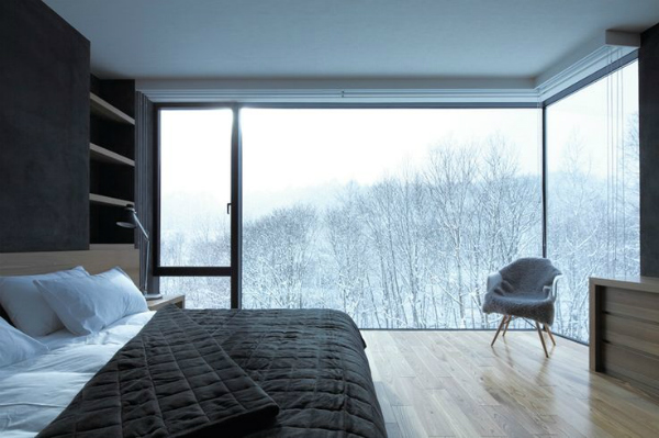 Room with a view - Scandinavian bedroom