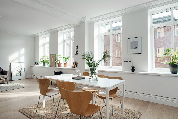 Dining table - Scandinavian design - interior trends 2016