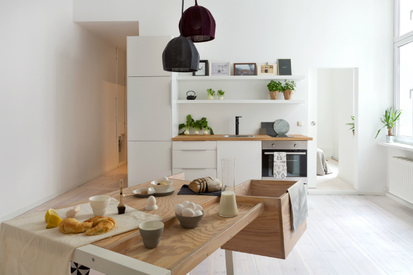Warm minimalism - minimalist kitchen - interior design trends 2016