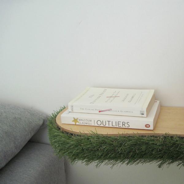Grass Floating Shelf bedside table from mochacasa