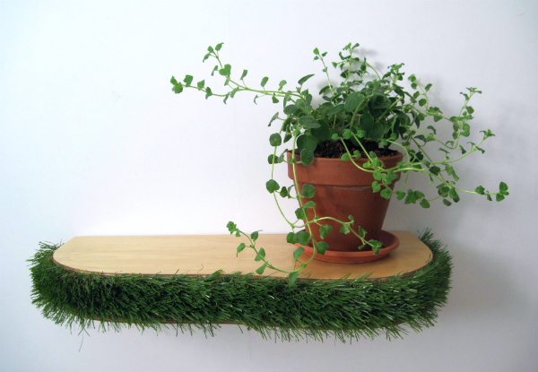 Grass Floating Shelf from mochacasa