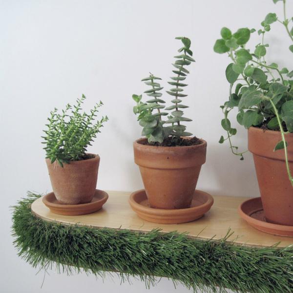 Grass Floating Shelf plant shelf from Mocha Casa