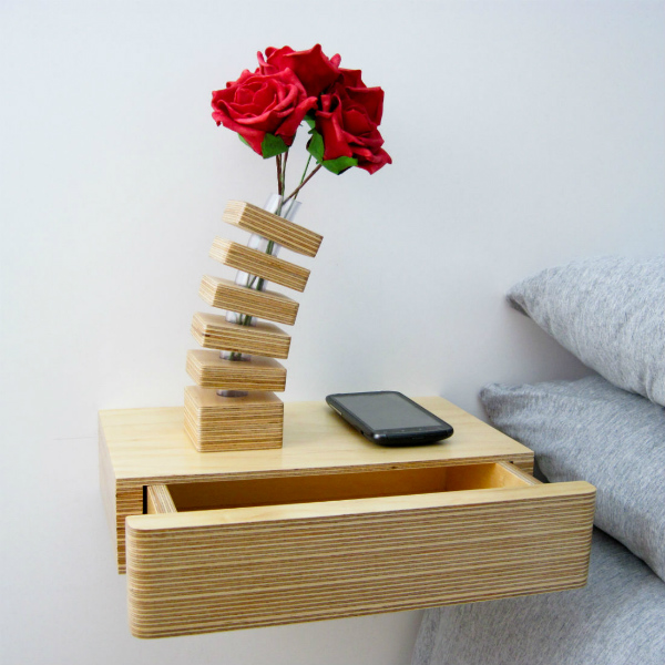 Pacco Floating Drawer bedside tables from mochacasa.com