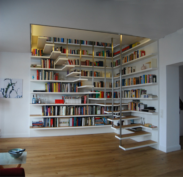 Staircase Shelving staircase with bookshelves