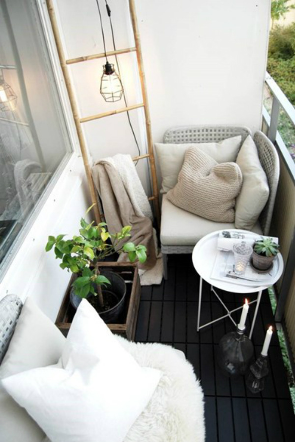 Balcony garden outdoor living room