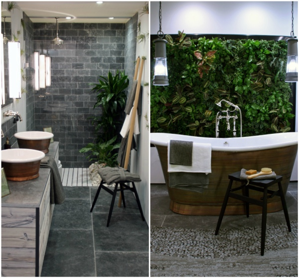 Biophilic design bathroom by Oliver Heath on mochacasa