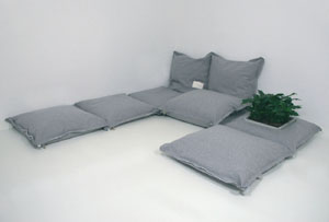 ZipZip Modular Floor Cushions from Mocha
