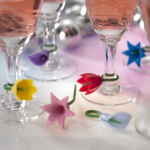 Flower Wine Charms from Mocha