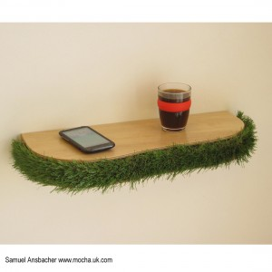 Grass Floating Shelf by Samuel Ansbacher