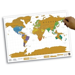 Scratch Map Personalised World Map Poster