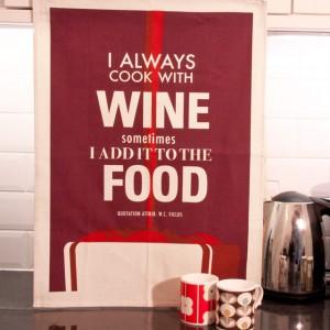 Tea Towel: Cook With Wine